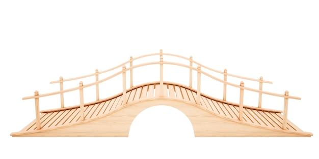 Holzbrücke isoliert auf weiß