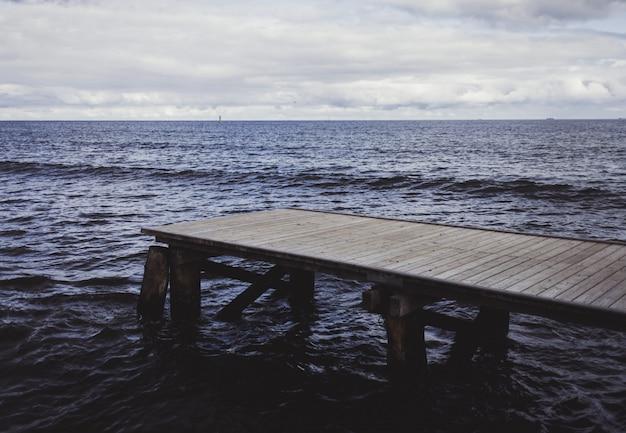 Holzbrücke oder pier