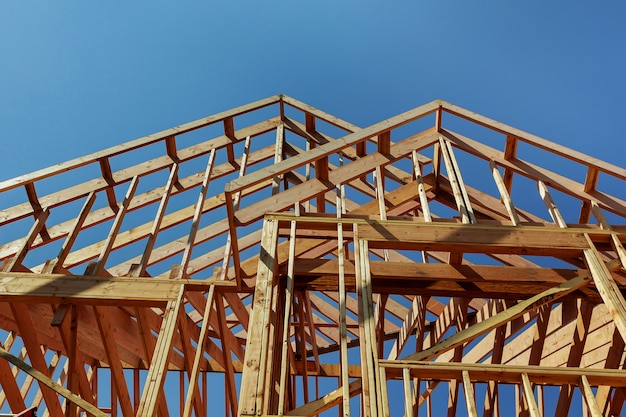 Holzdachkonstruktion, haus, hausbau