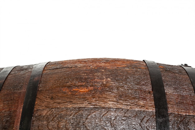 Holzfass mit eisenringen.