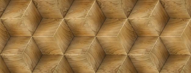 Holzfurnierboxen entwerfen sechseck-3d-paneele und material holz eiche