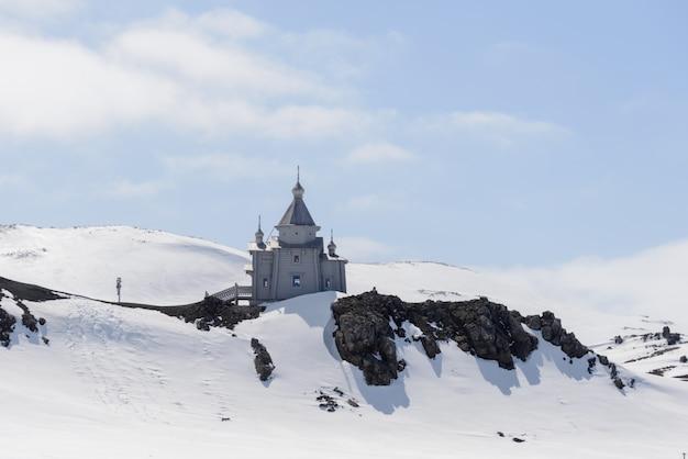 Holzkirche in der antarktis
