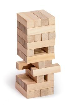 Holzklötze stapeln spiel