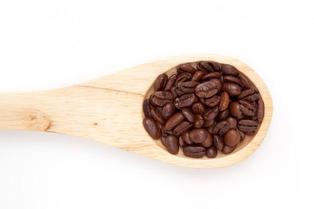 Holzlöffel mit kaffeesamen