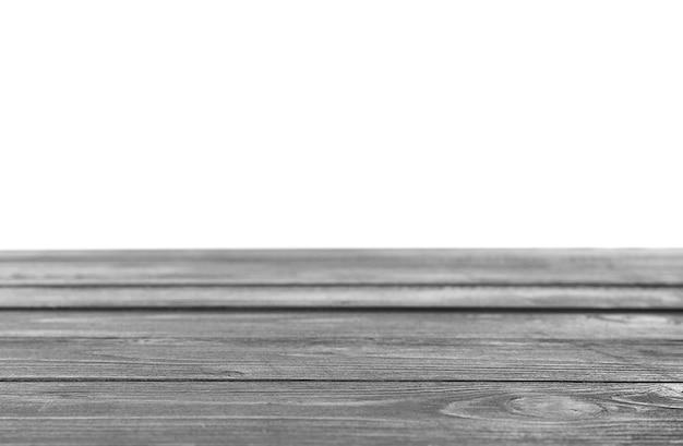 Holzoberfläche auf weißer wand
