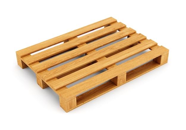 Holzpalette auf weiß