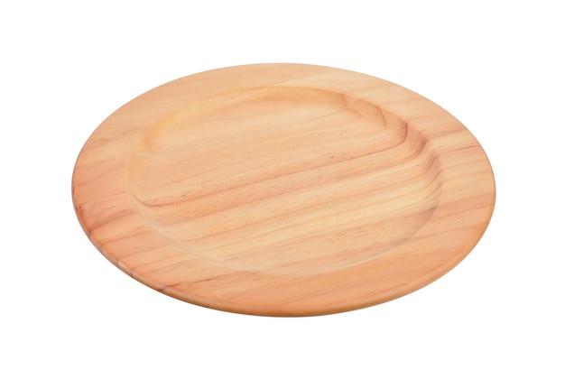 Holzplatte lokalisiert auf weißem hintergrund