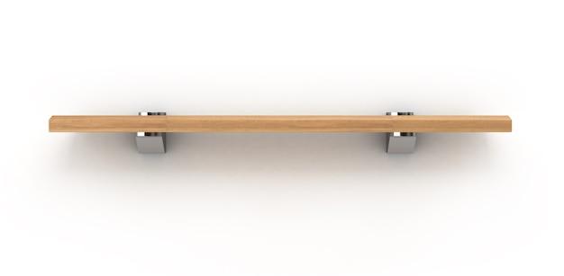 Holzregal lokalisiert auf weiß