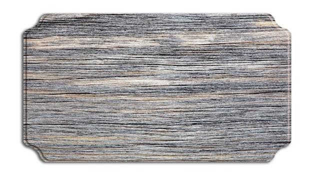 Holzschild lokalisiert auf weiß