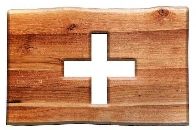 Holzschild mit dem symbol add