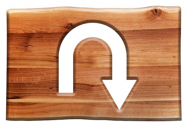 Holzschild mit dem symbol