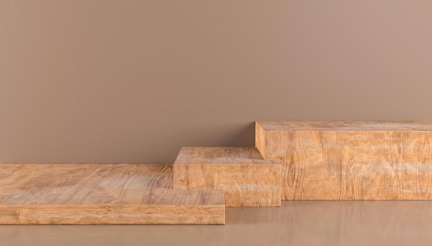 Holzsockel für display luxury wood produktständer leeres rundes holzpodest