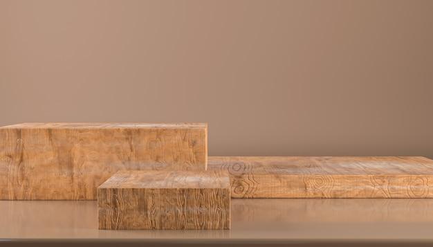 Holzsockel für displayluxury wood produktständer leeres rundes holzpodest