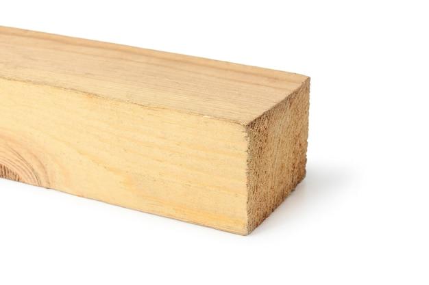 Holzstab isoliert auf weißem hintergrund