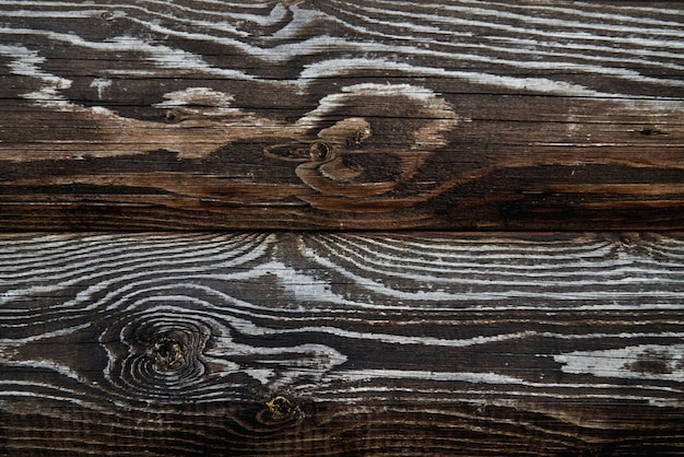 Holzstruktur von dunkelbraunen brettern.