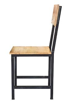 Holzstuhl lokalisiert auf weiß mit beschneidungspfad