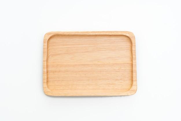 Holztablett oder -platte isoliert
