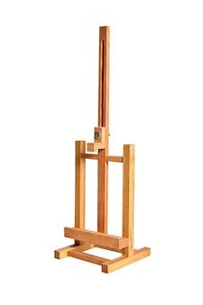 Holztisch staffelei isoliert