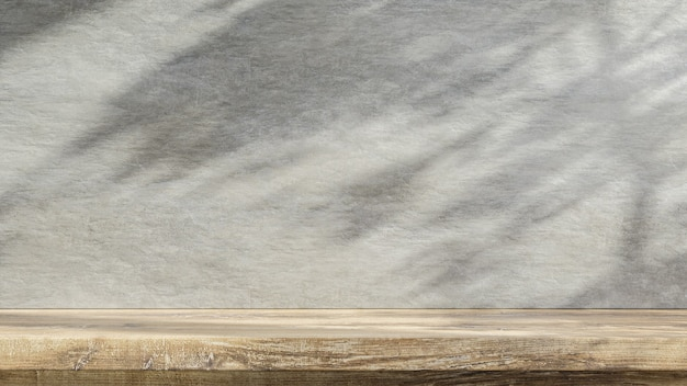 Holztisch zähler mit beton grunge textur background.3d-rendering