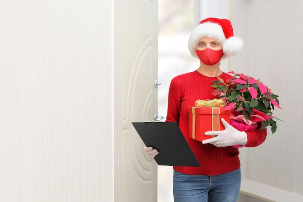 Home-shopping- und lieferpakete während des covid19-ausbruchs und der weihnachtsferien