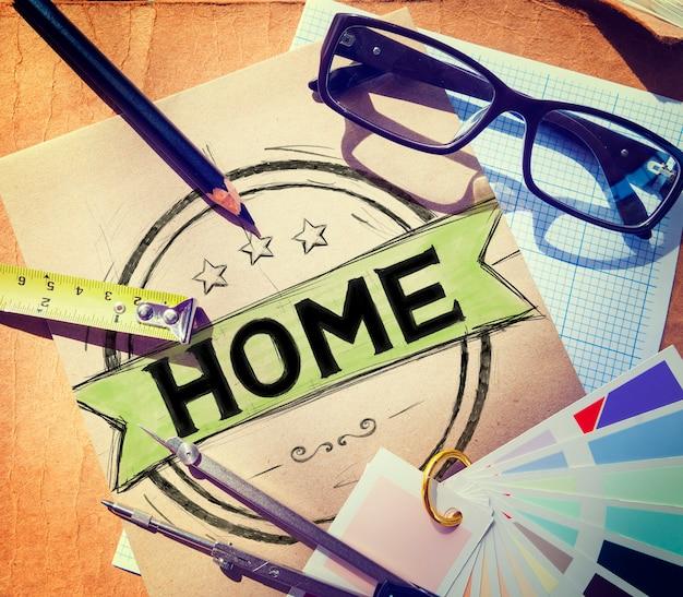 Home wohnen familie wohnhaus konzept