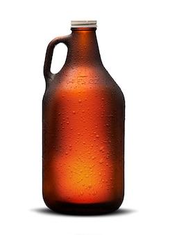 Homebrew-bier im growler