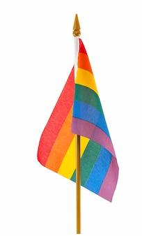 Homosexuelle flagge des desktop-lgbt-regenbogens lokalisiert