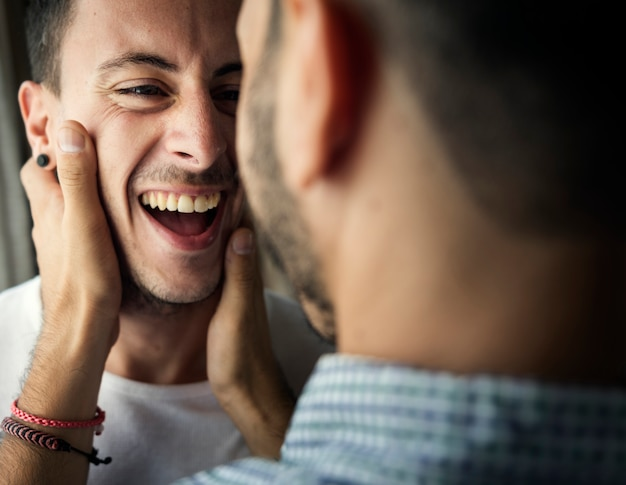 Homosexuelles paar-liebes-hauptkonzept