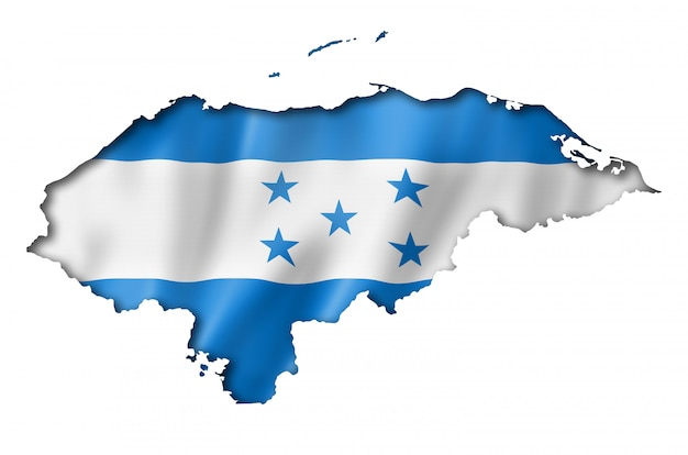 Honduras-flaggenkarte