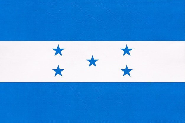 Honduras nationale gewebeflagge, symbol des internationalen weltmittelamerika-landes.