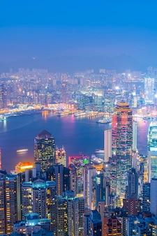 Hong kong city skyline und architekturlandschaft
