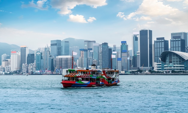 Hong kong city skyline und architekturlandschaft