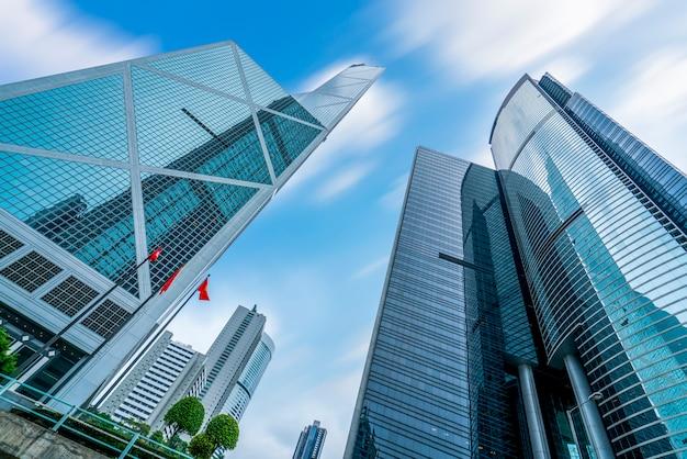 Hong kong-handelsgebäude-wolkenkratzer
