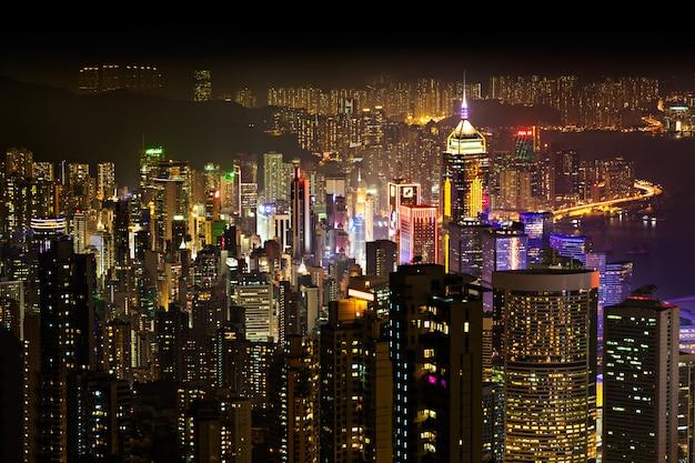 Hong kong in der nacht