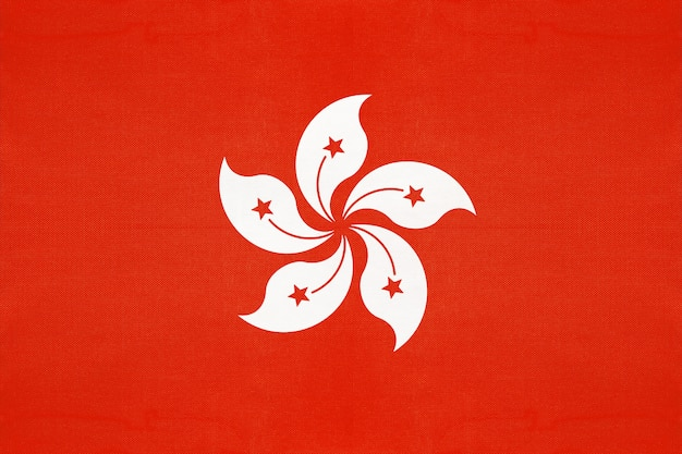 Hong kong national stoff flagge
