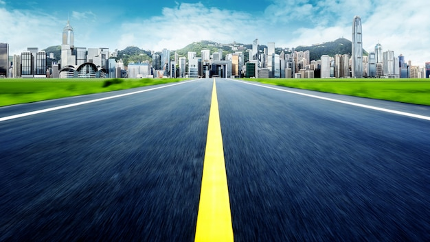 Hong kong skyline der stadt