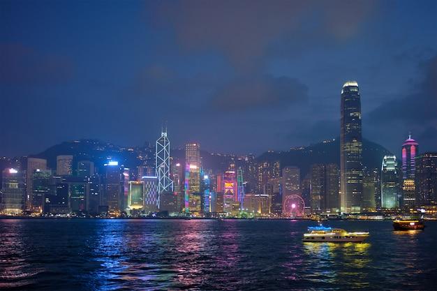 Hong kong skyline. hongkong, china