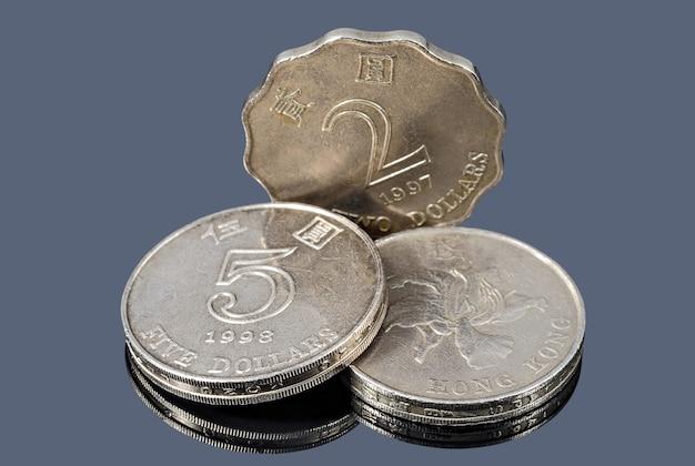 Hongkong-geldmünzen hautnah