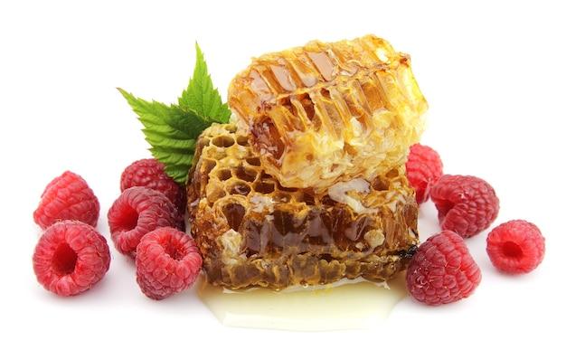 Honig und himbeeren hautnah