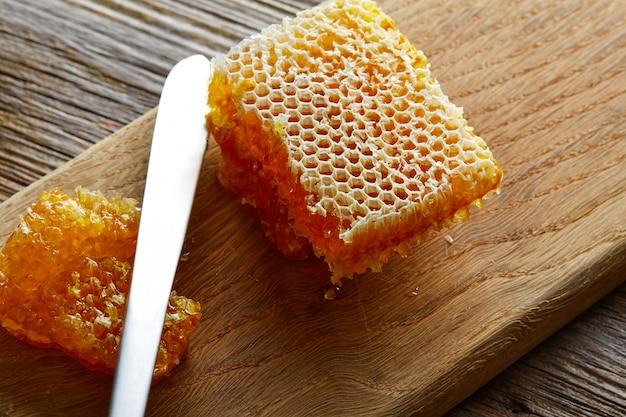 Honigbienenwabendetailmakrobeschaffenheit