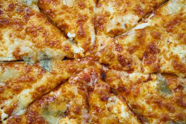 Horizontale parmesan nahaufnahme yummy slice