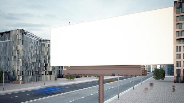 Horizontale plakatwand an der stadtstraße