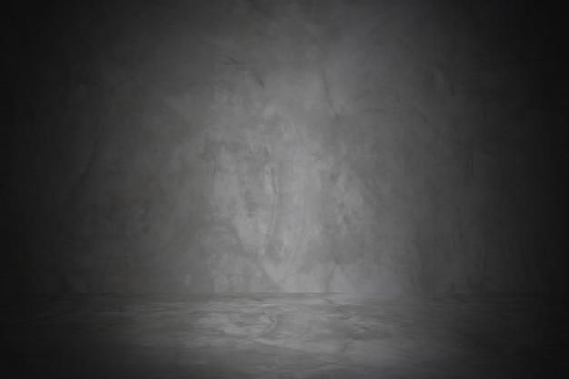 Horizontale schwarze studiowand des tafel- und ausstellungsraumhintergrundes