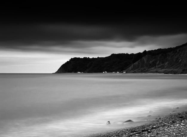 Horizontaler lebendiger strandlinie horizonthintergrund hd