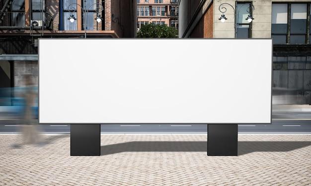 Horizontales plakatmodell der straßenwerbung