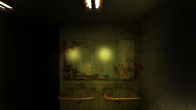 Horror und gruselige toilette im krankenhaus