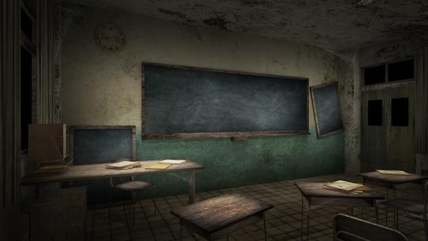 Horror und gruseliges klassenzimmer in der schule