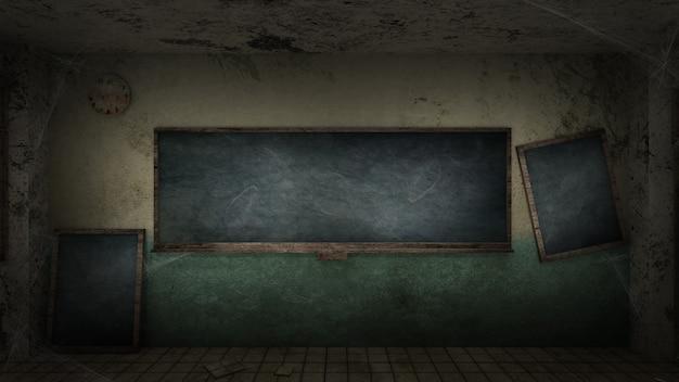 Horror und gruseliges klassenzimmer in einer schule