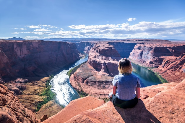 Horseshoe bend page, arizona, grand canyon, vereinigte staaten von amerika