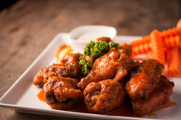 Hot chili wings, buffalo wings